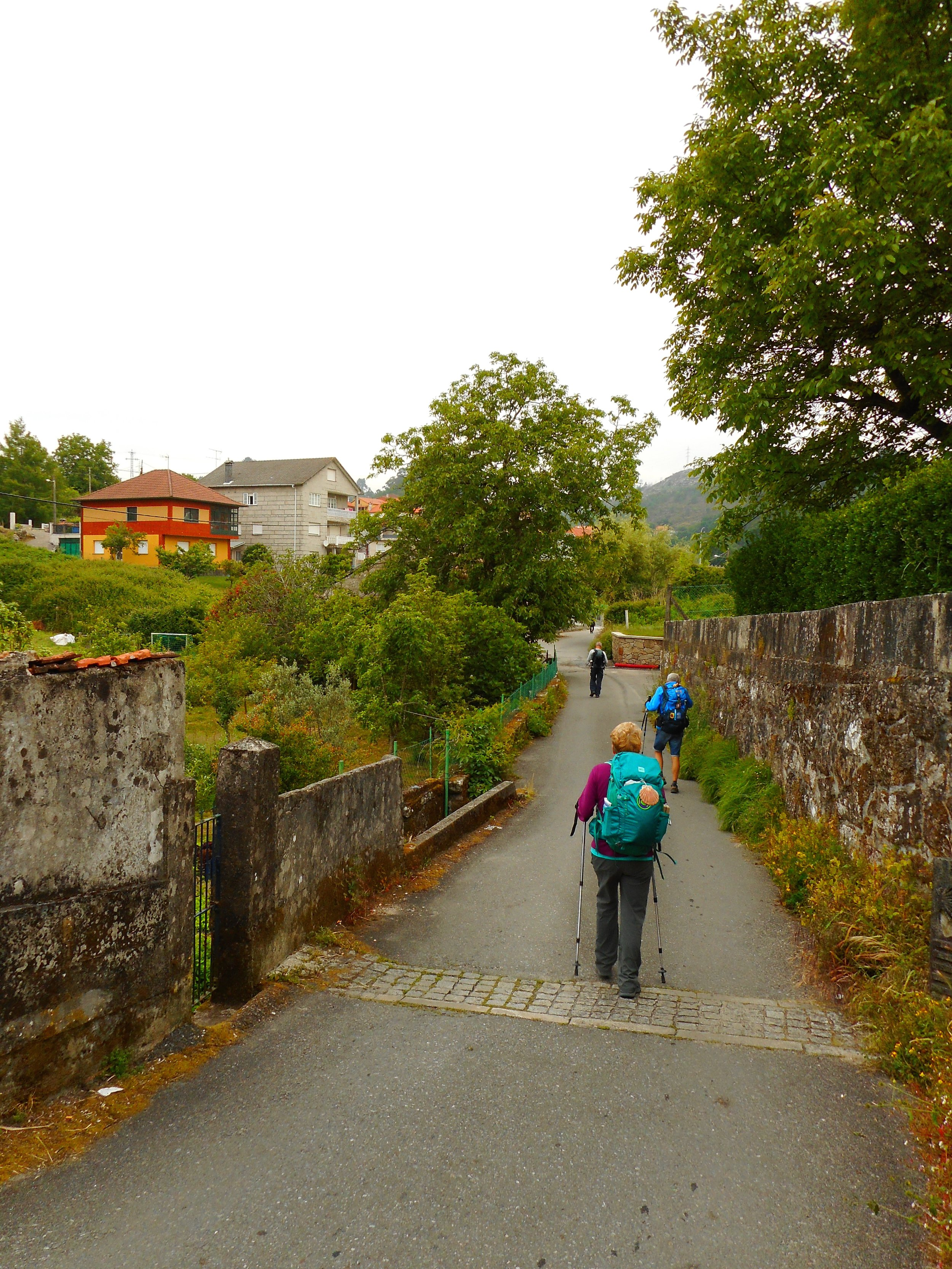 Walking down some of the small streets along the way