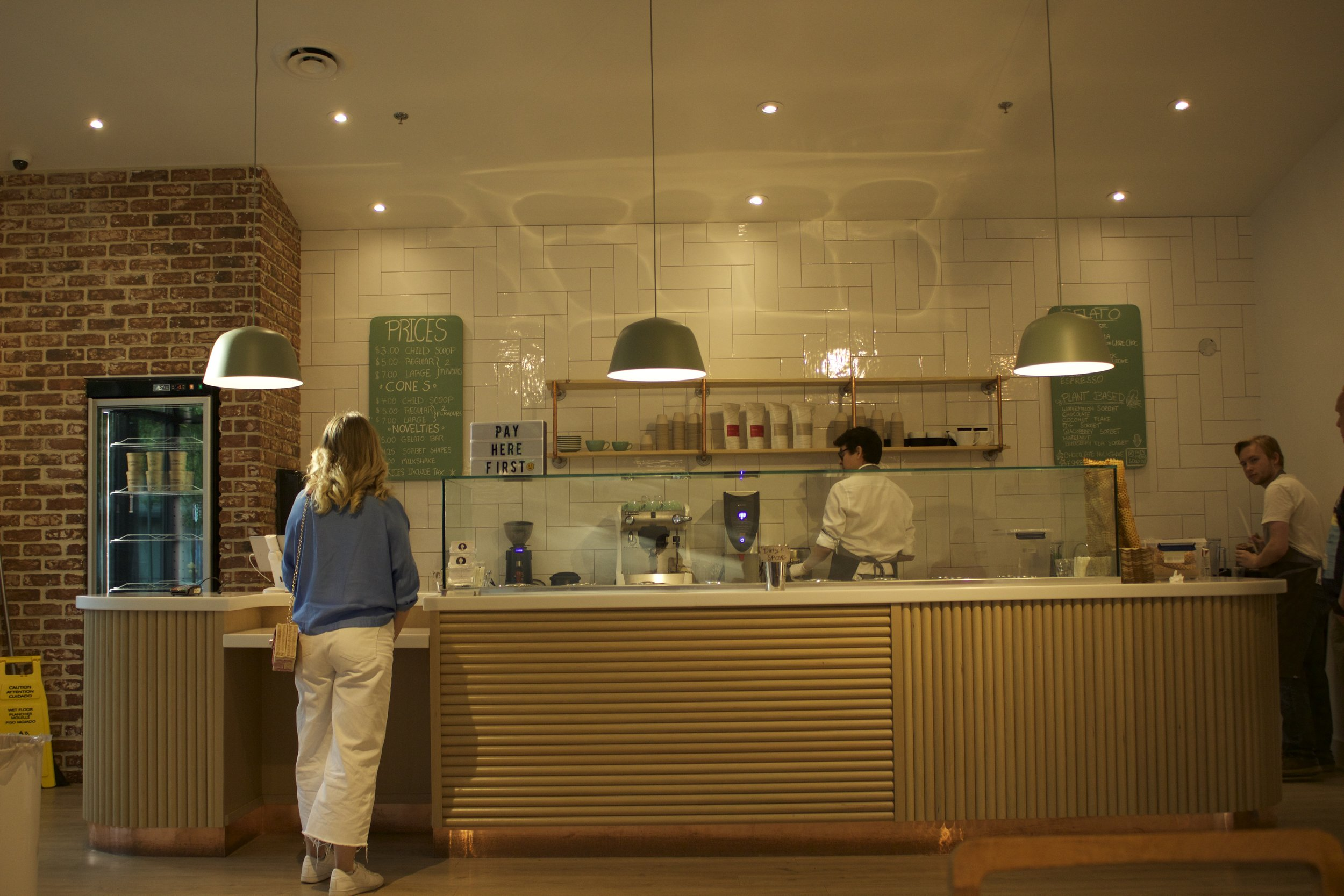 I loved the layout of this ice cream shop