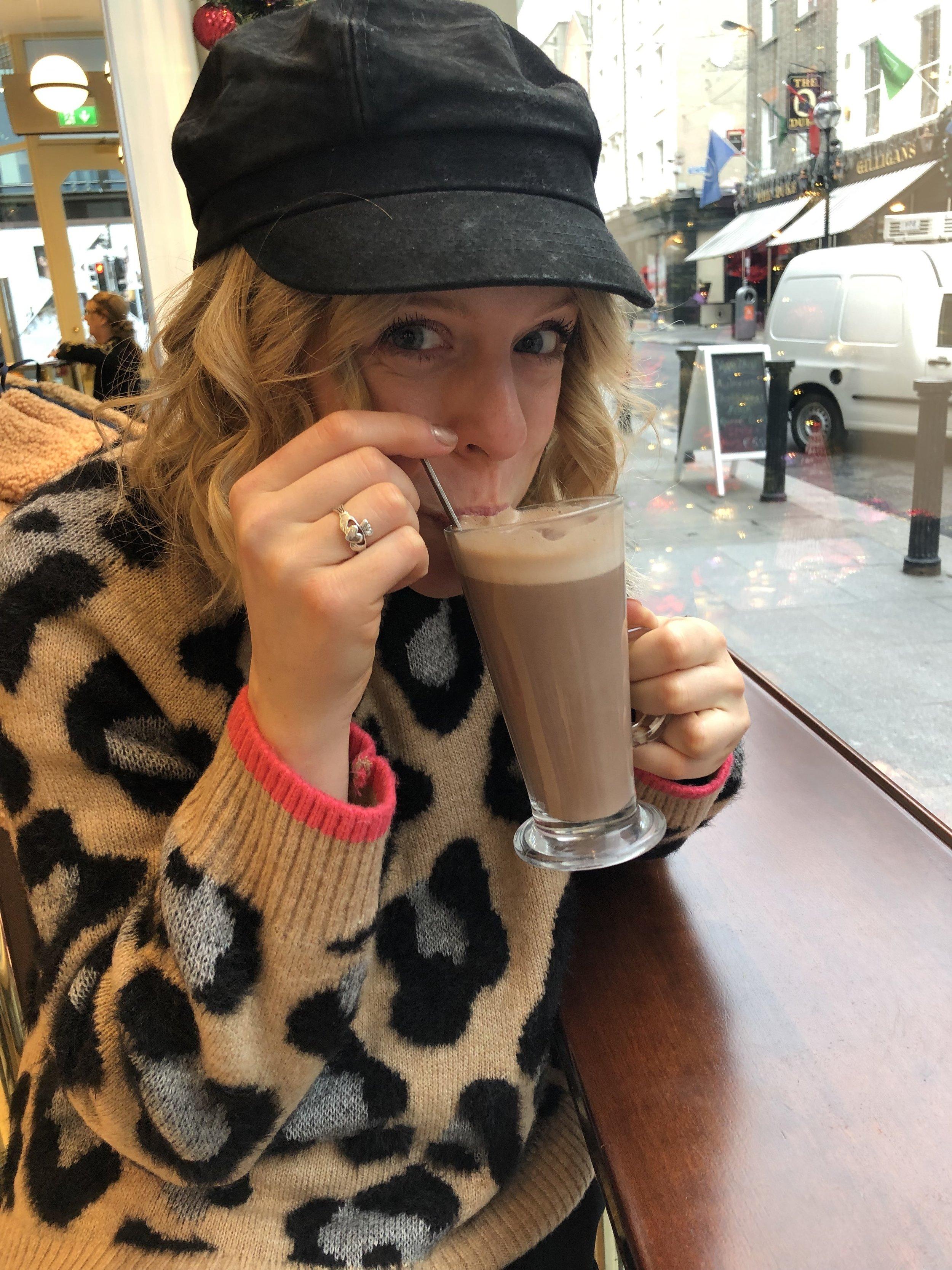 Enjoying my   Butler's   Hot Chocolate