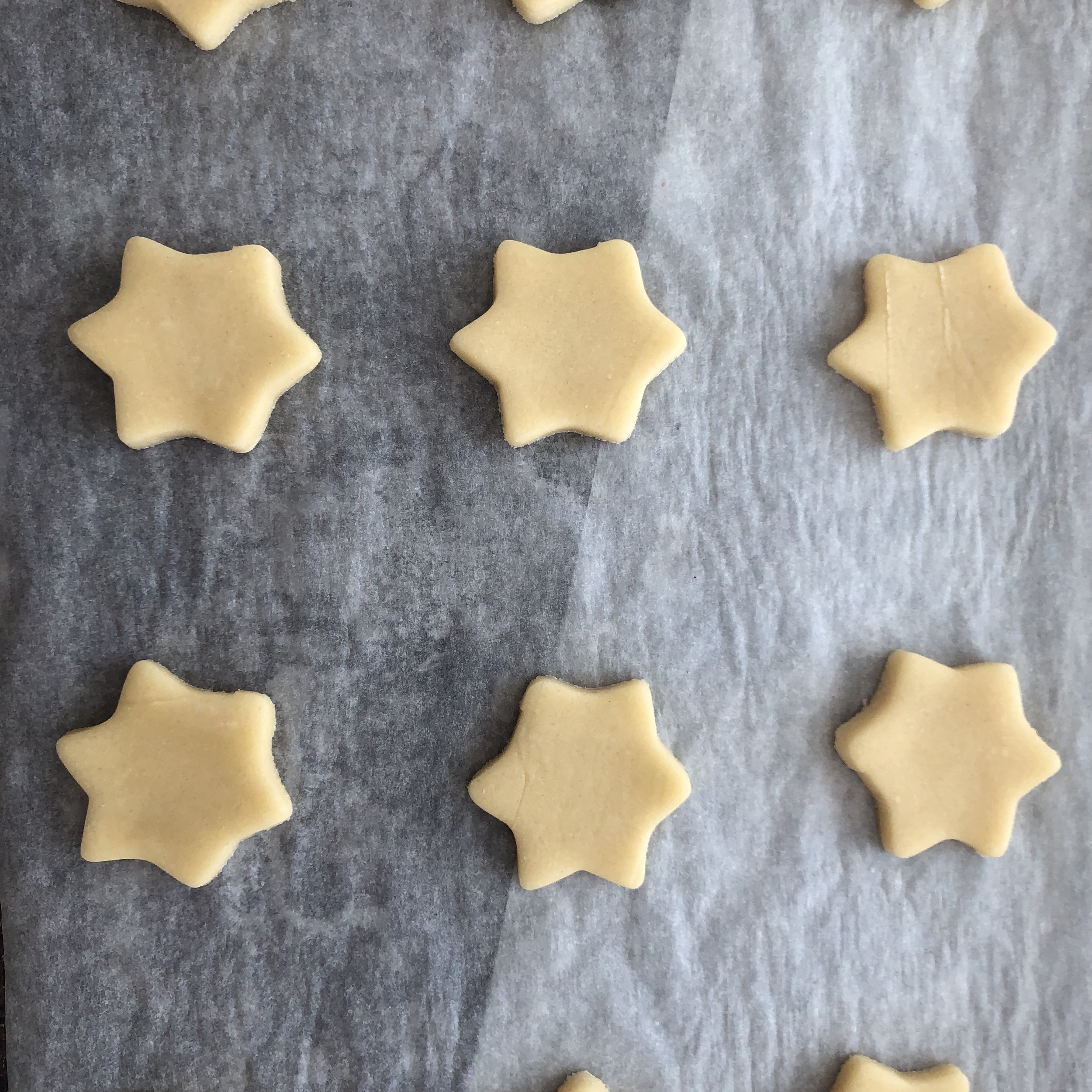 Some stars before being baked