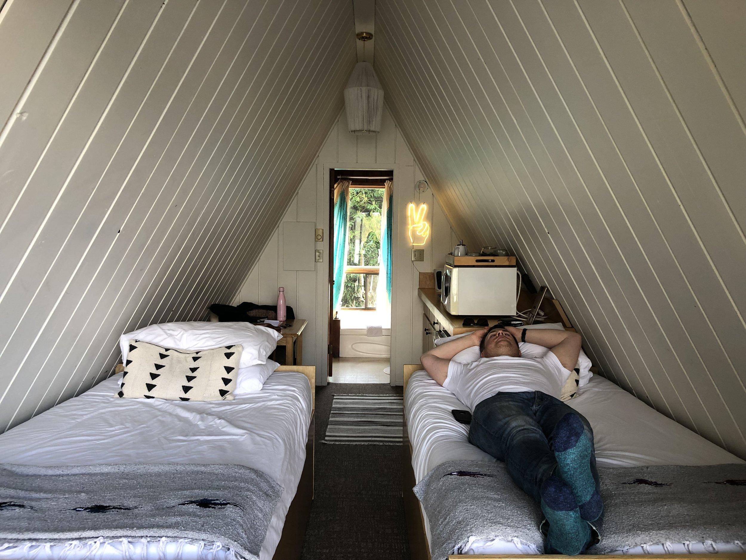 Dave making himself at home