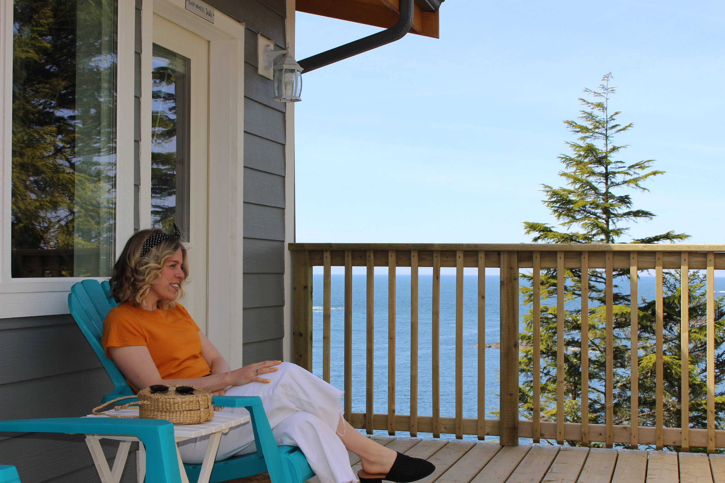 Enjoying the deck outside our suite, the weather could not have been any better!
