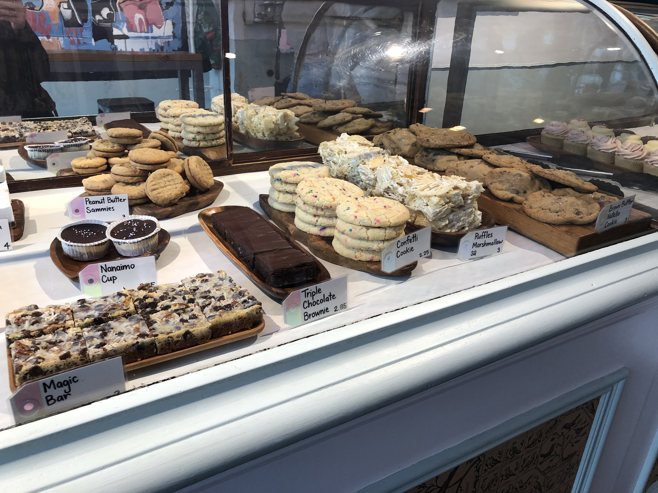 The wide array of treats on display