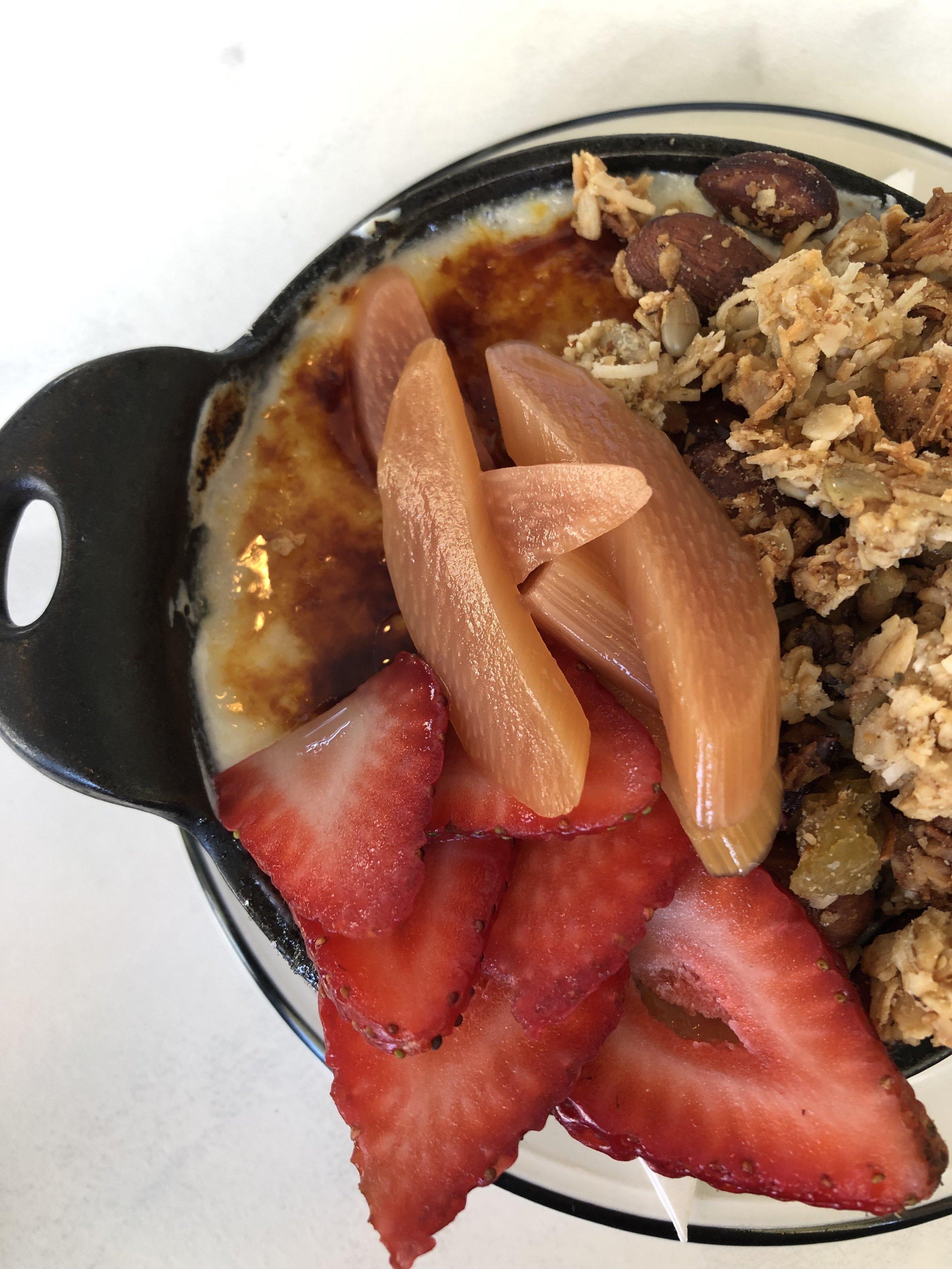 My delicious granola and brûlée yogurt parfait