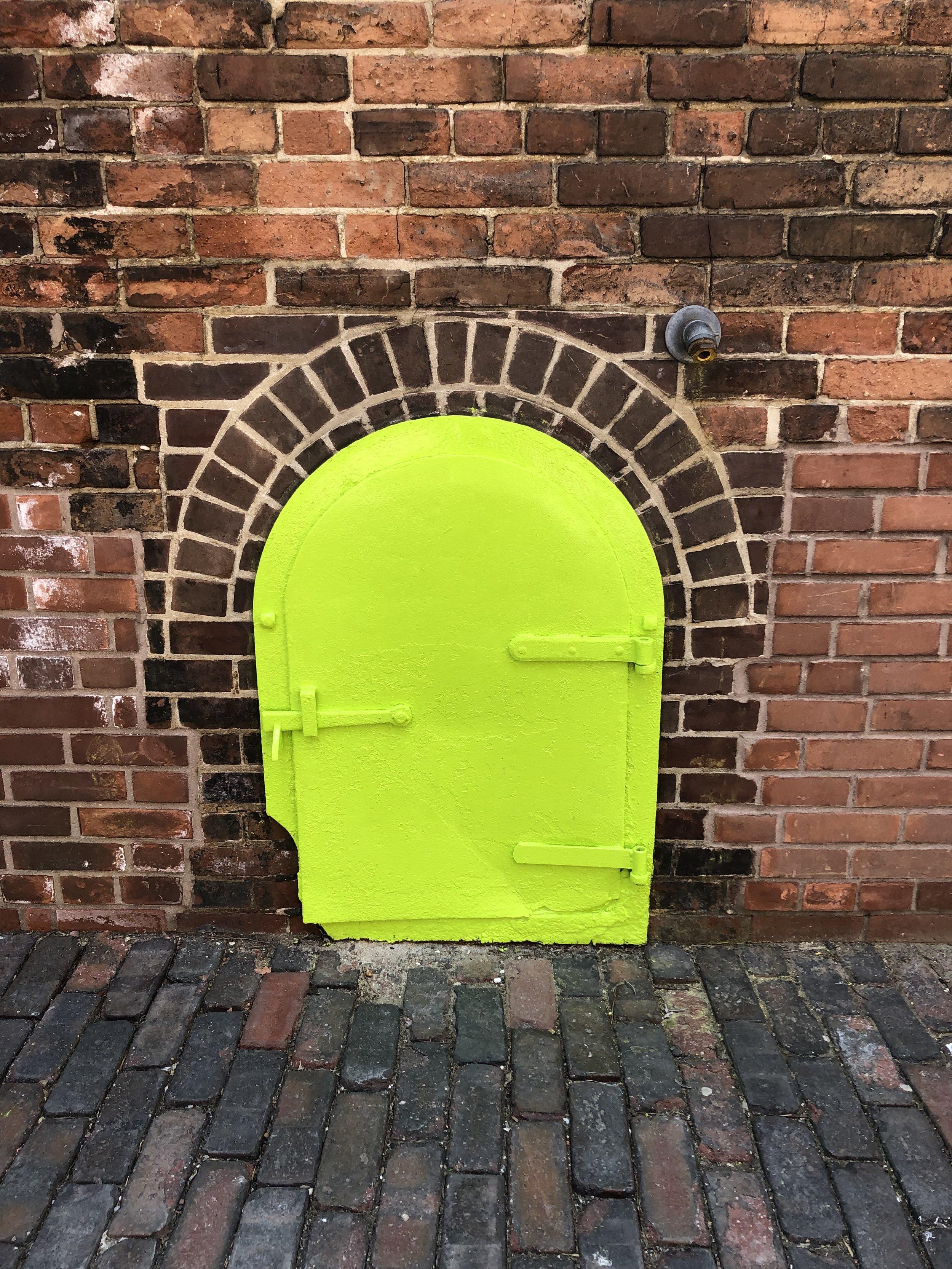 The tiniest door in the Distillery
