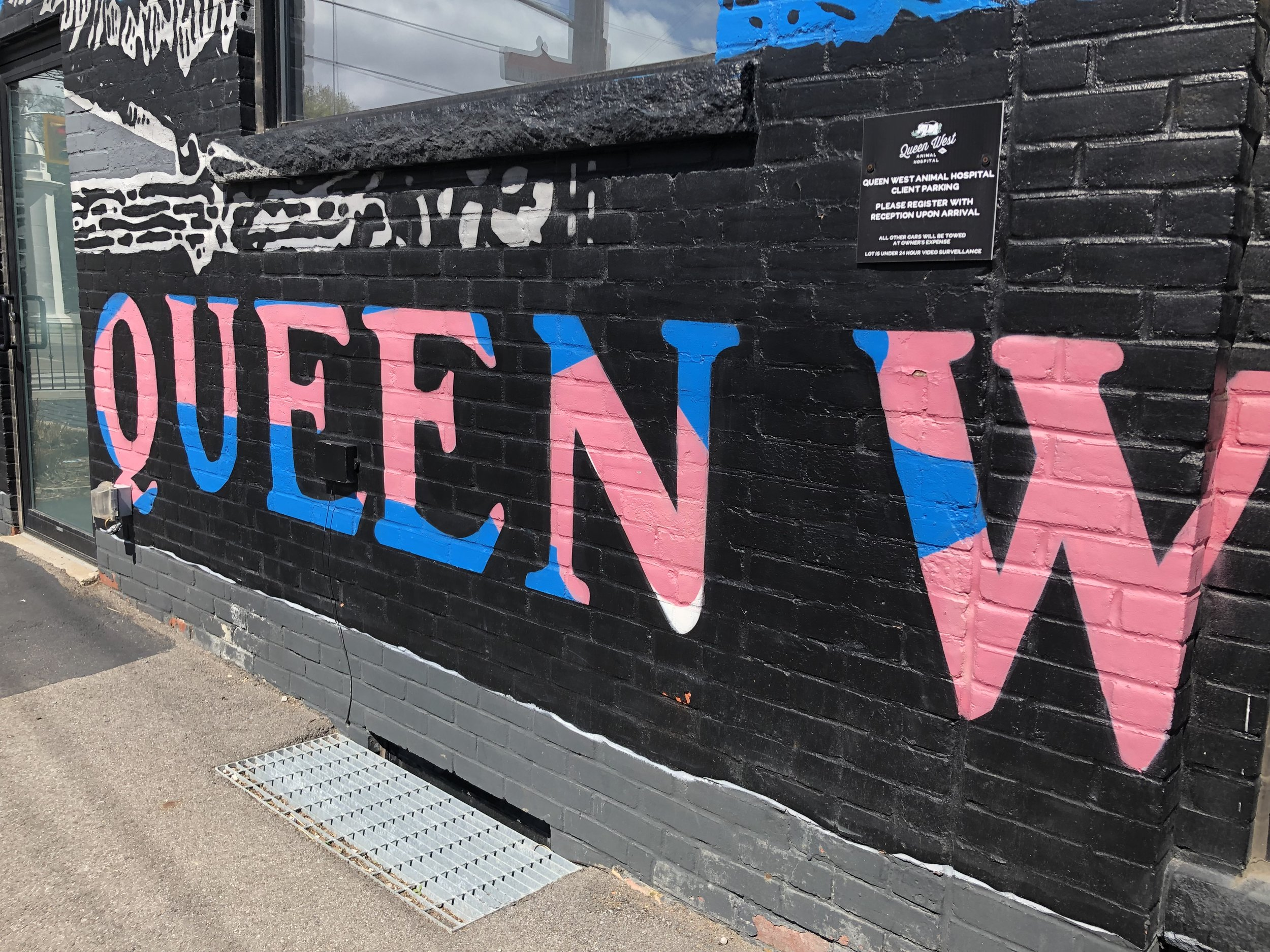 The street art along Queen St W is so interesting