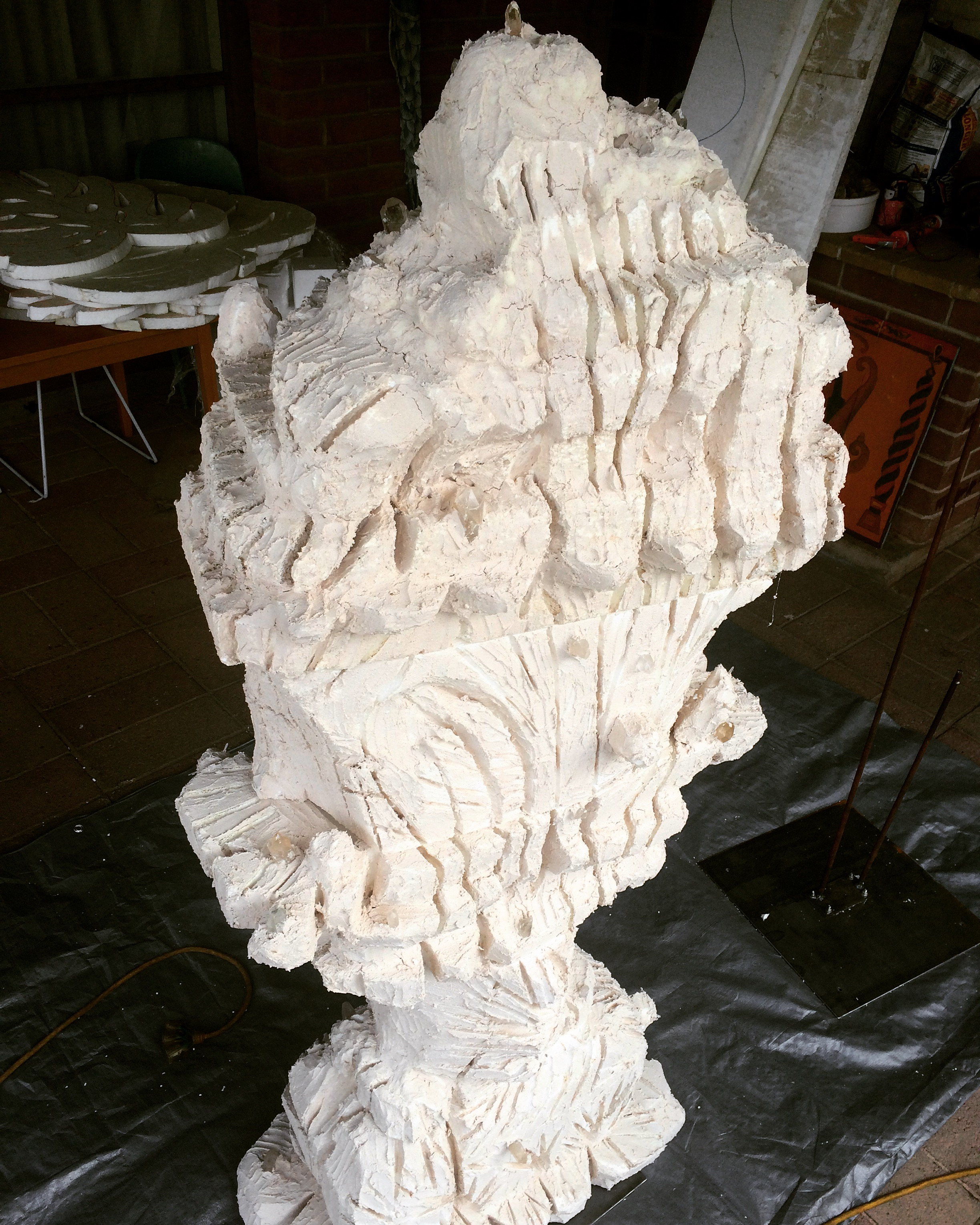 Super coral sculpture work in progress.  Magic Mountain