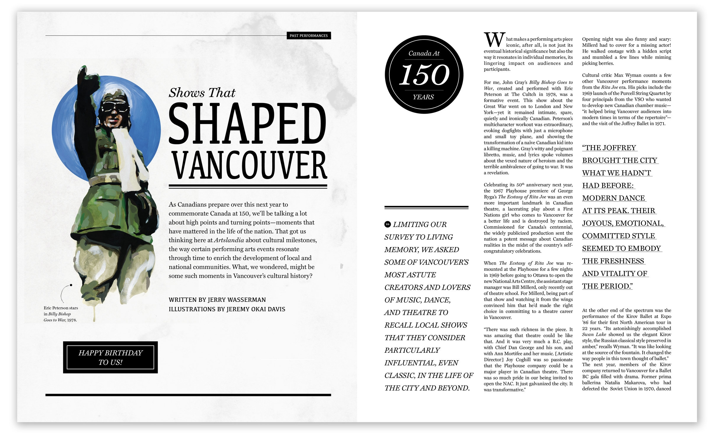 SHOWS THAT SHAPED VANCOUVER FEATURE Spread