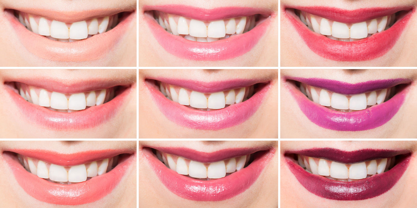 carefully chosen lipstick shade can enhance the pearly white shine