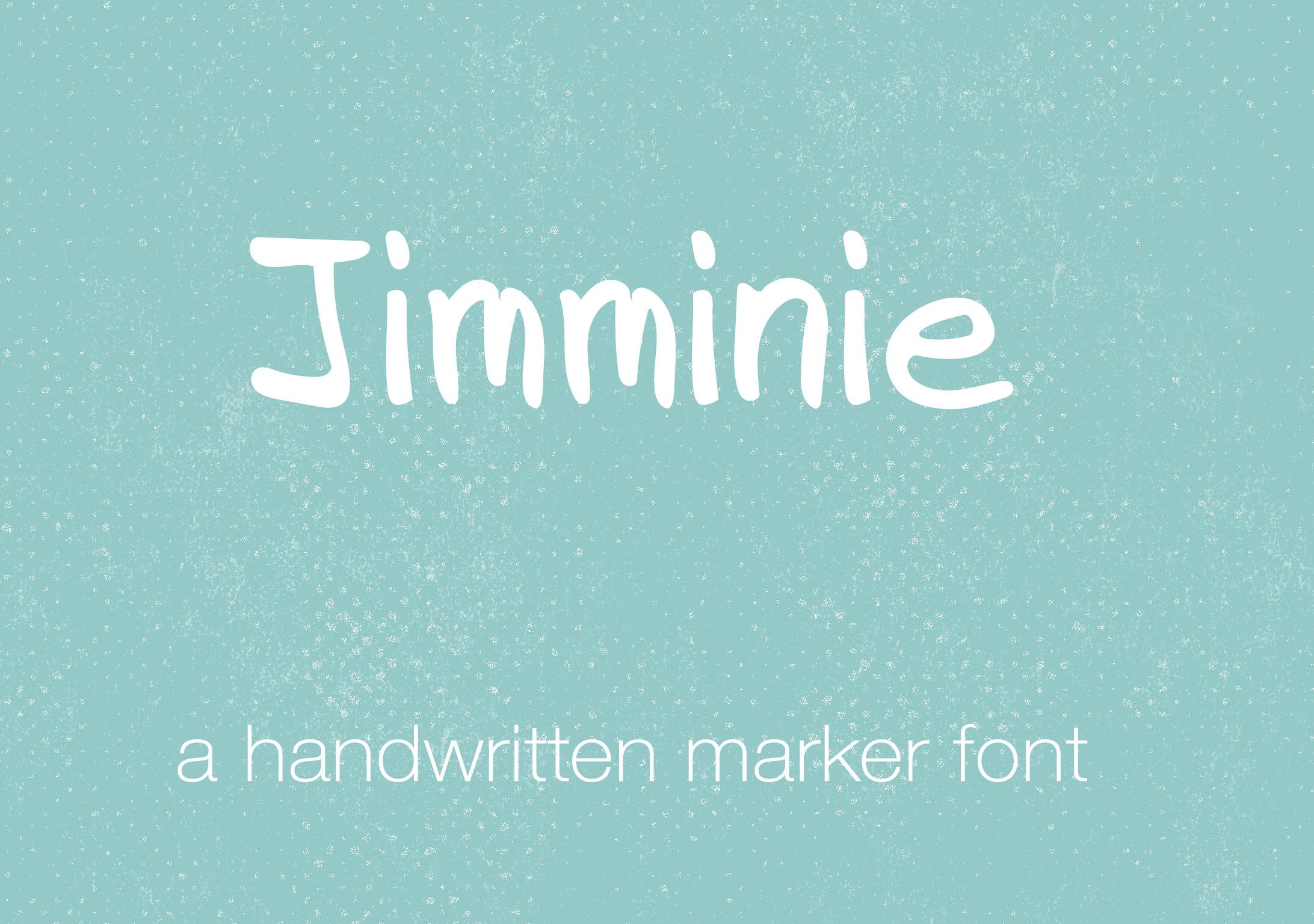 Jimminie Handwritten Font