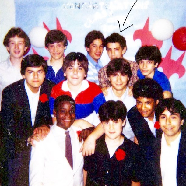 Hi. This is me (with some of my favorite folks) at my 8th grade graduation from Fox Lane Middle School. Strong Spock ears. Strong 80's fro. Tons of delusional heart. Haven't set foot in the building since. Next Tuesday, I'm heading back to speak at the school for the first time. RIP 80's fro. Same Spock ears though and def the same delusional heart. Life is both weird & wild. Stoked.