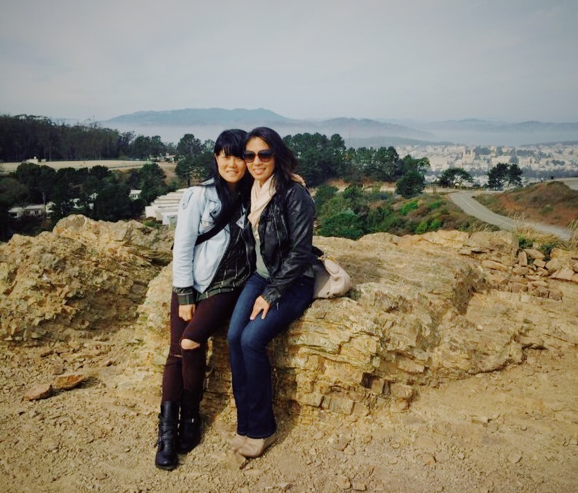 Enjoying the gorgeous SF Twin Peaks View with Helen.