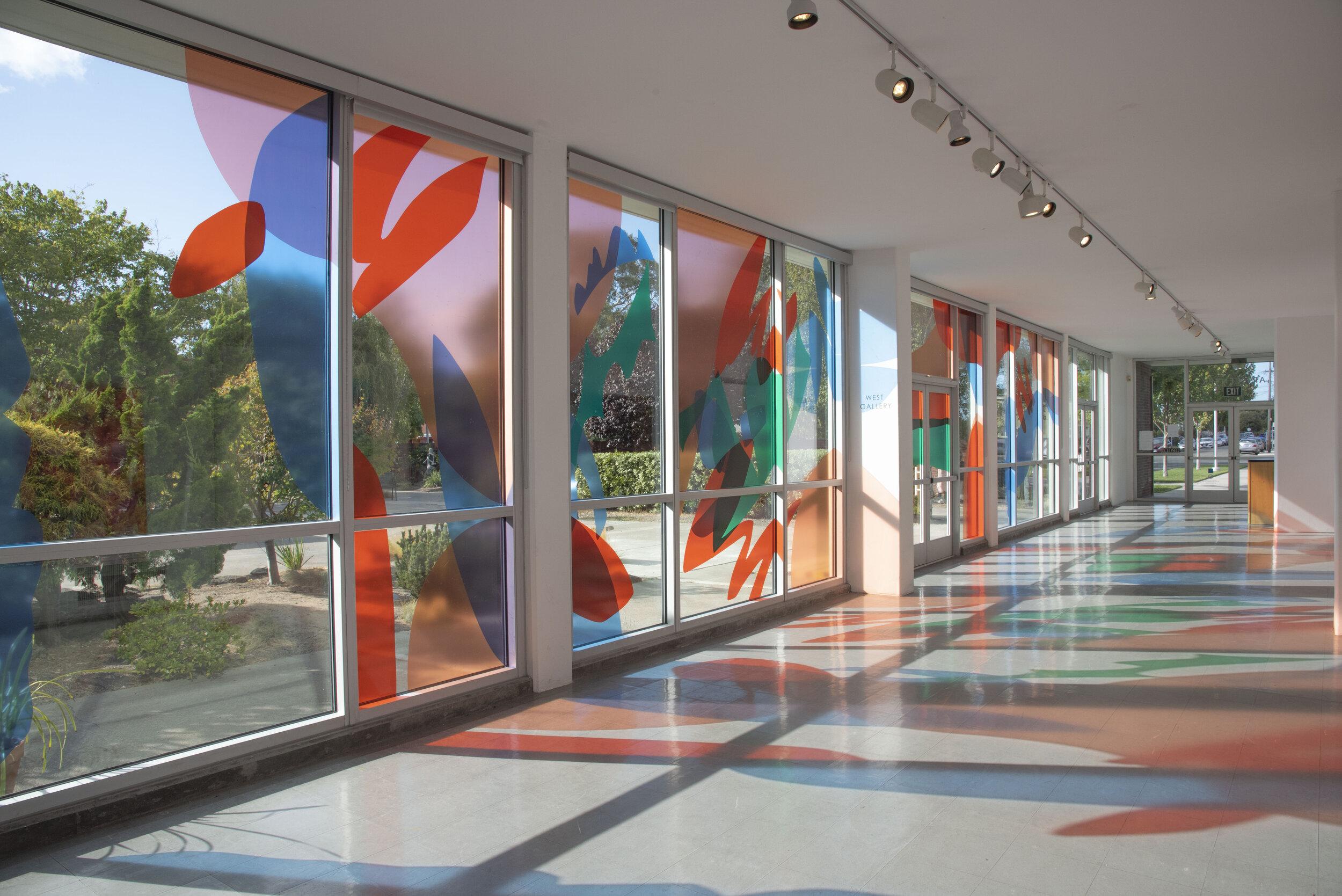 Thresholds,  10 x 38 ft., Transparent vinyl over window, 2019