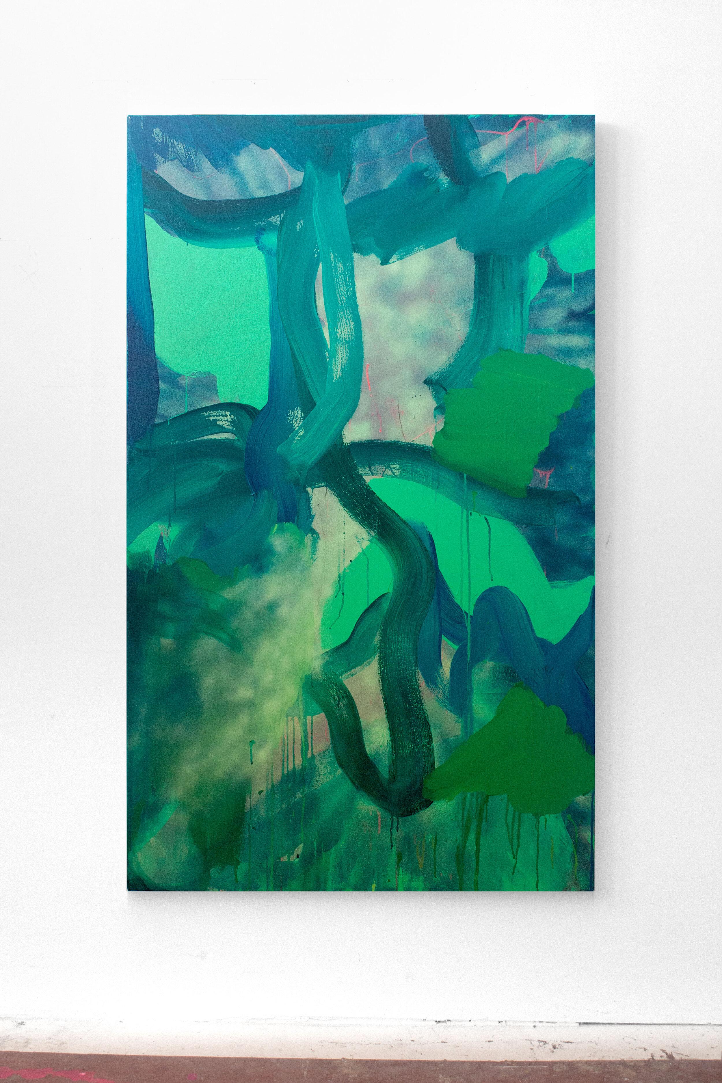 Loophole,  60 x 36 in., Acrylic on canvas, 2019