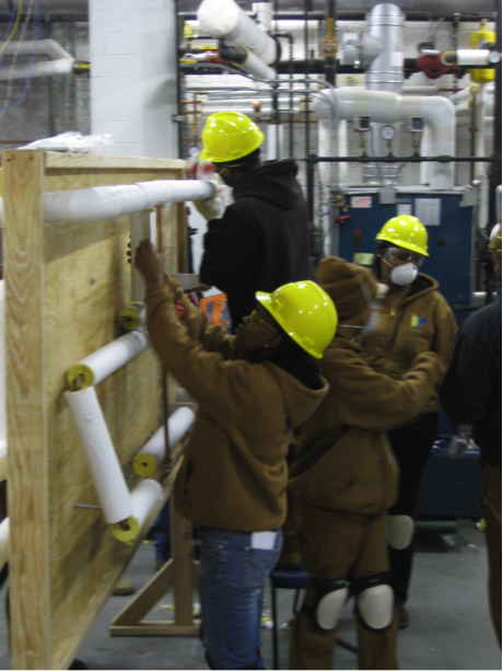 Practicing pipe insulation