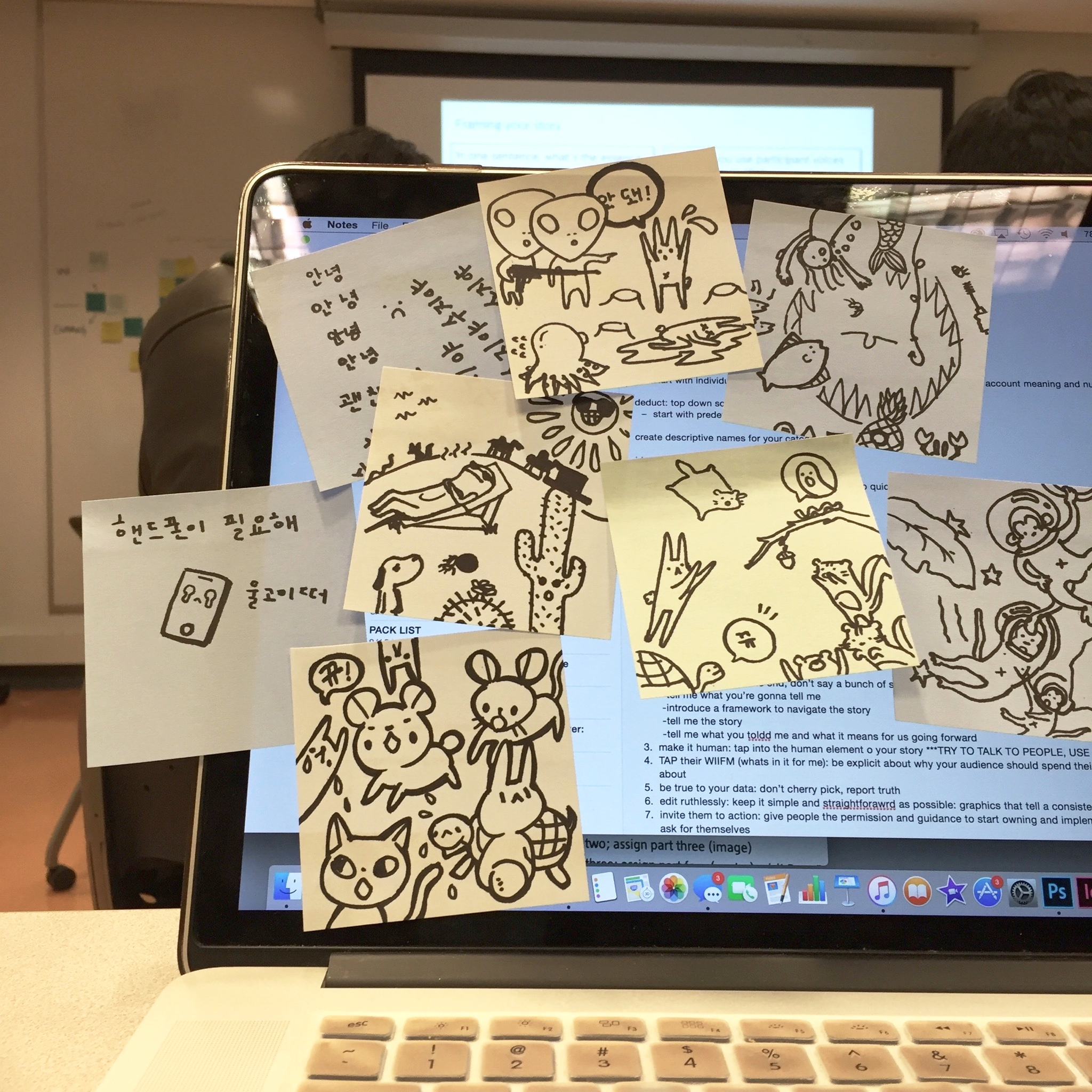 Doodles with  HSC  and  Heidi Chung