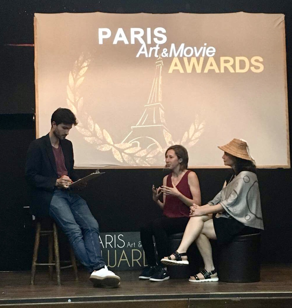 Q & A session at Paris Art and Movie Awards - June 2018