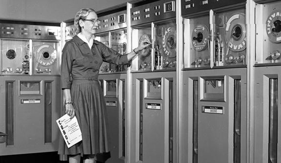 The legendary Admiral Grace Murray Hopper (1906–92), computer pioneer and naval officer.