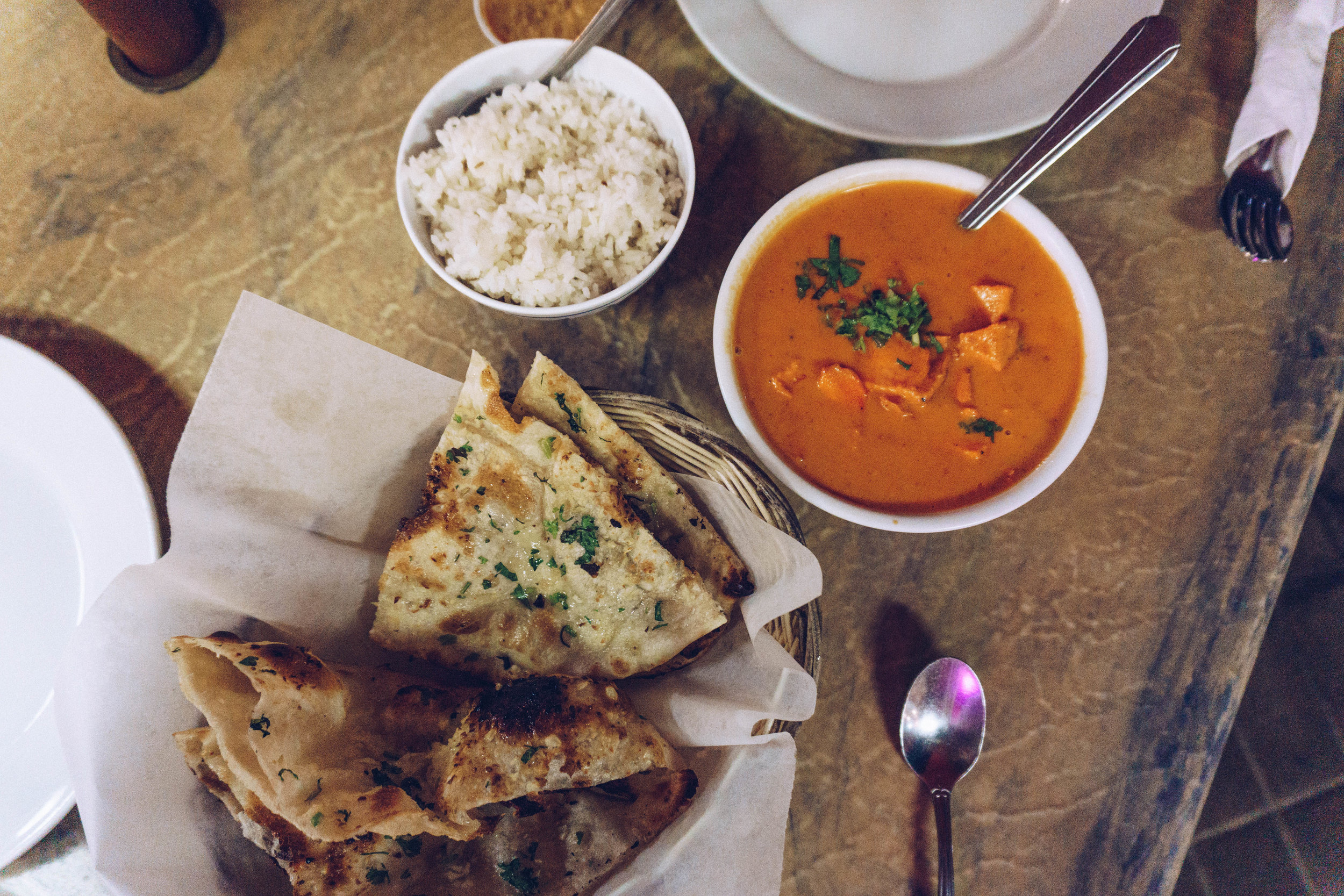 Indian Butter Chicken for dinner down in Lahaina at  INDIA EXPRESS