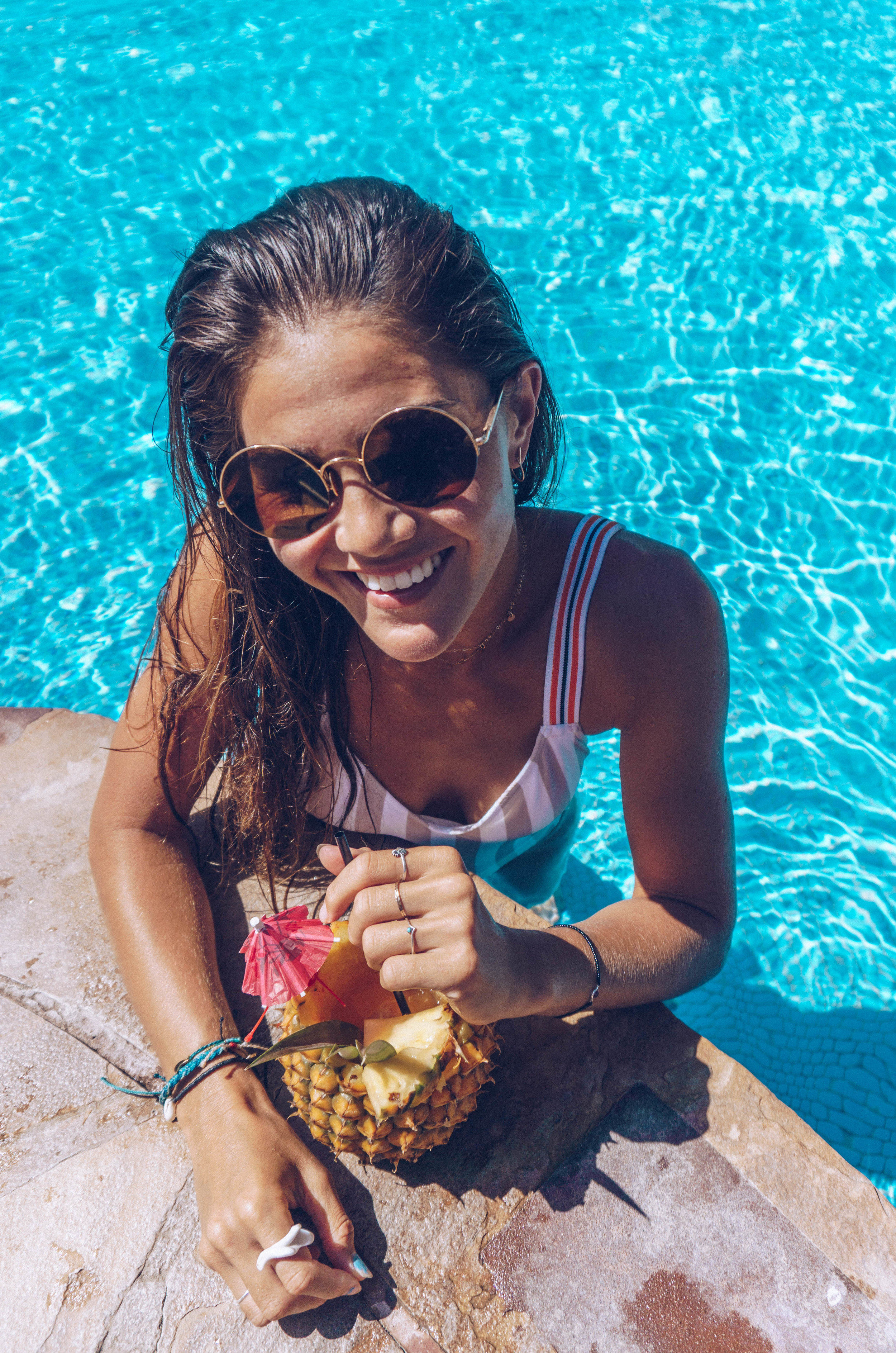 Poolside mocktails just make you feel like you are on vacation.