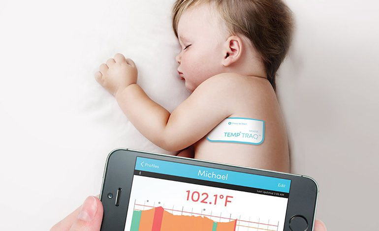 The TempTraq smart, wearable thermometer.