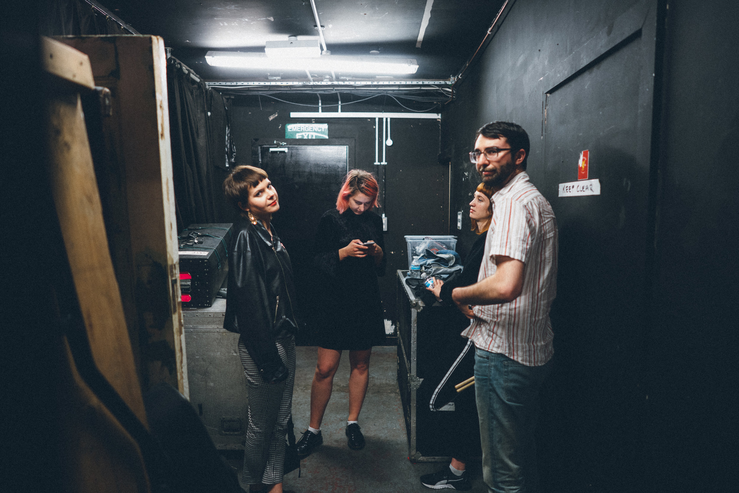Here's us about to go on stage in Liverpool, captured by the wonderful Rowan Allen (follow her on instagram, she makes the best stories @rowanallen)