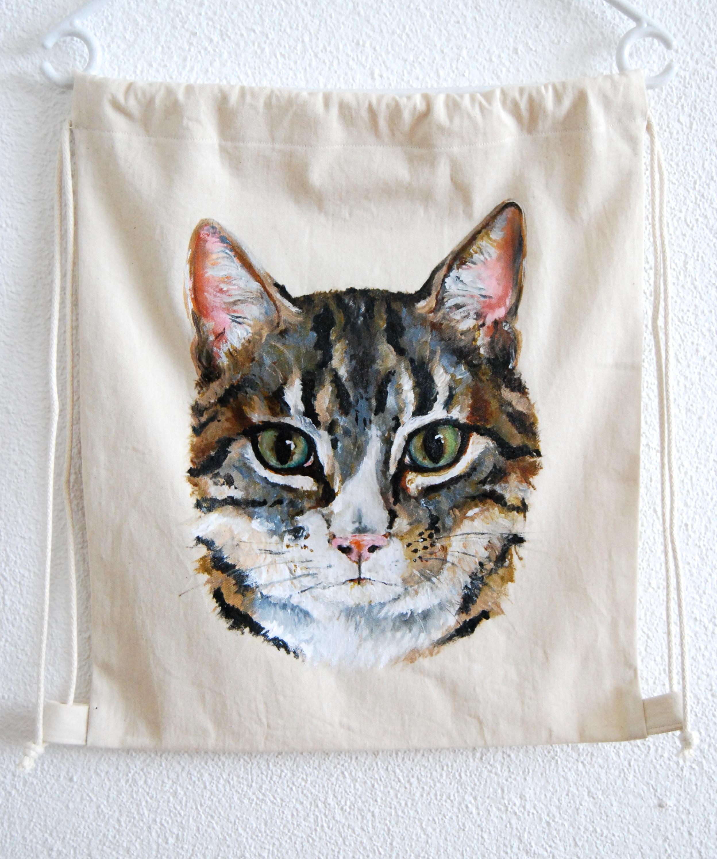 Katze Turnbeutel