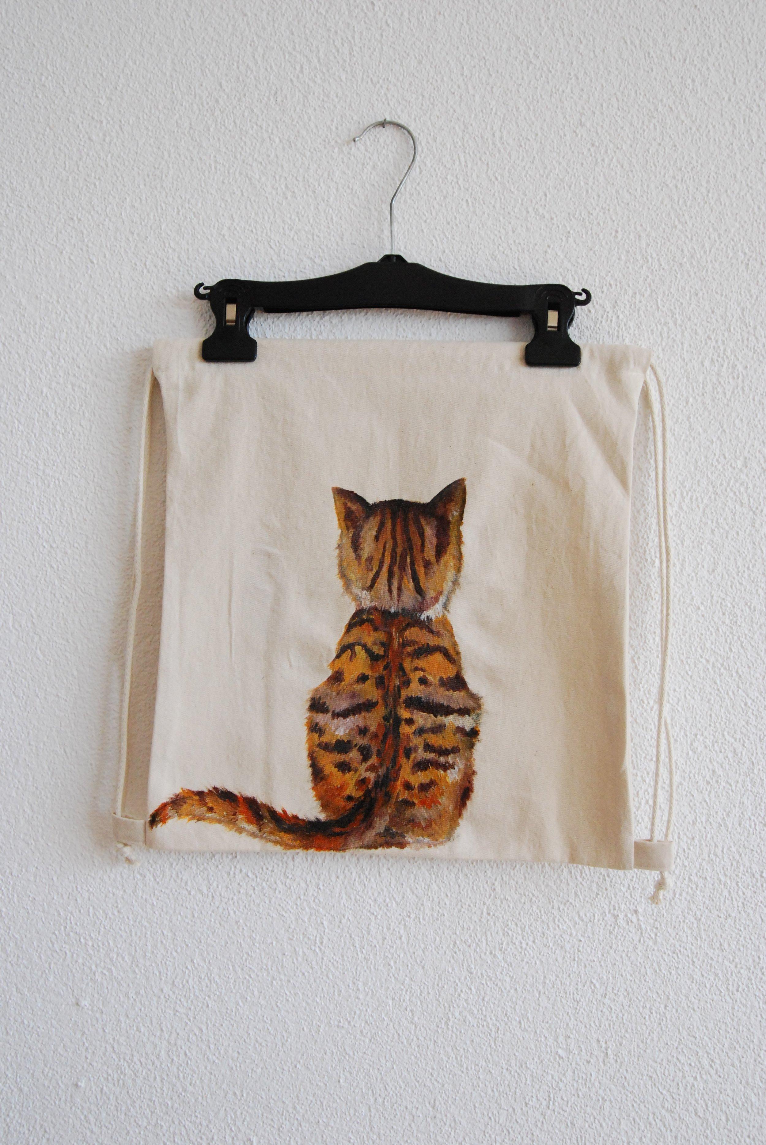 rote Katze Turnbeutel