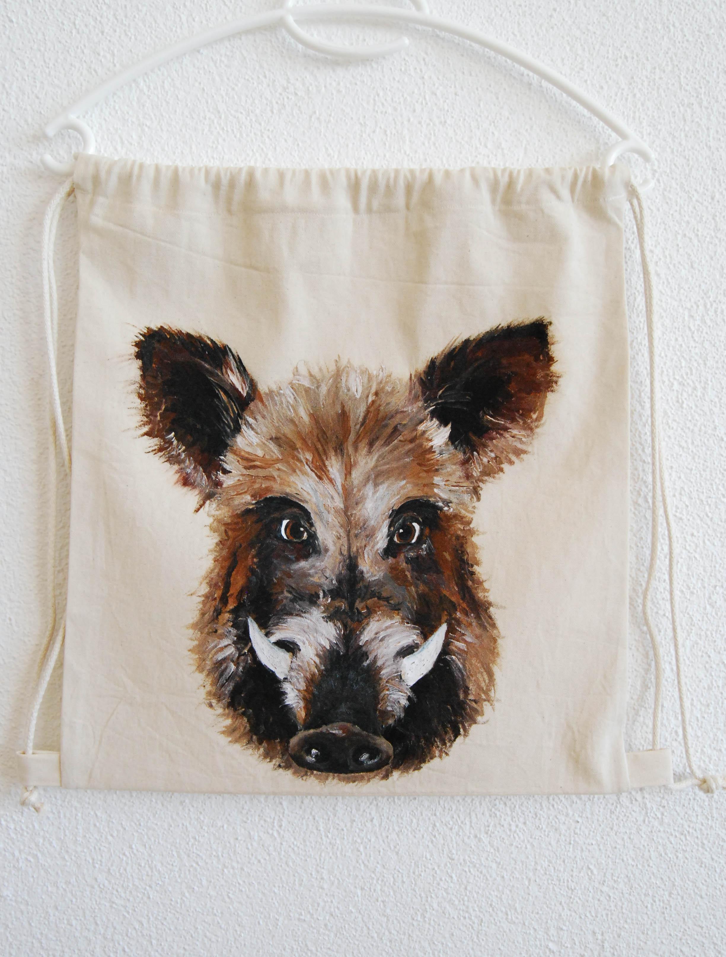 Wildschwein Turnbeutel