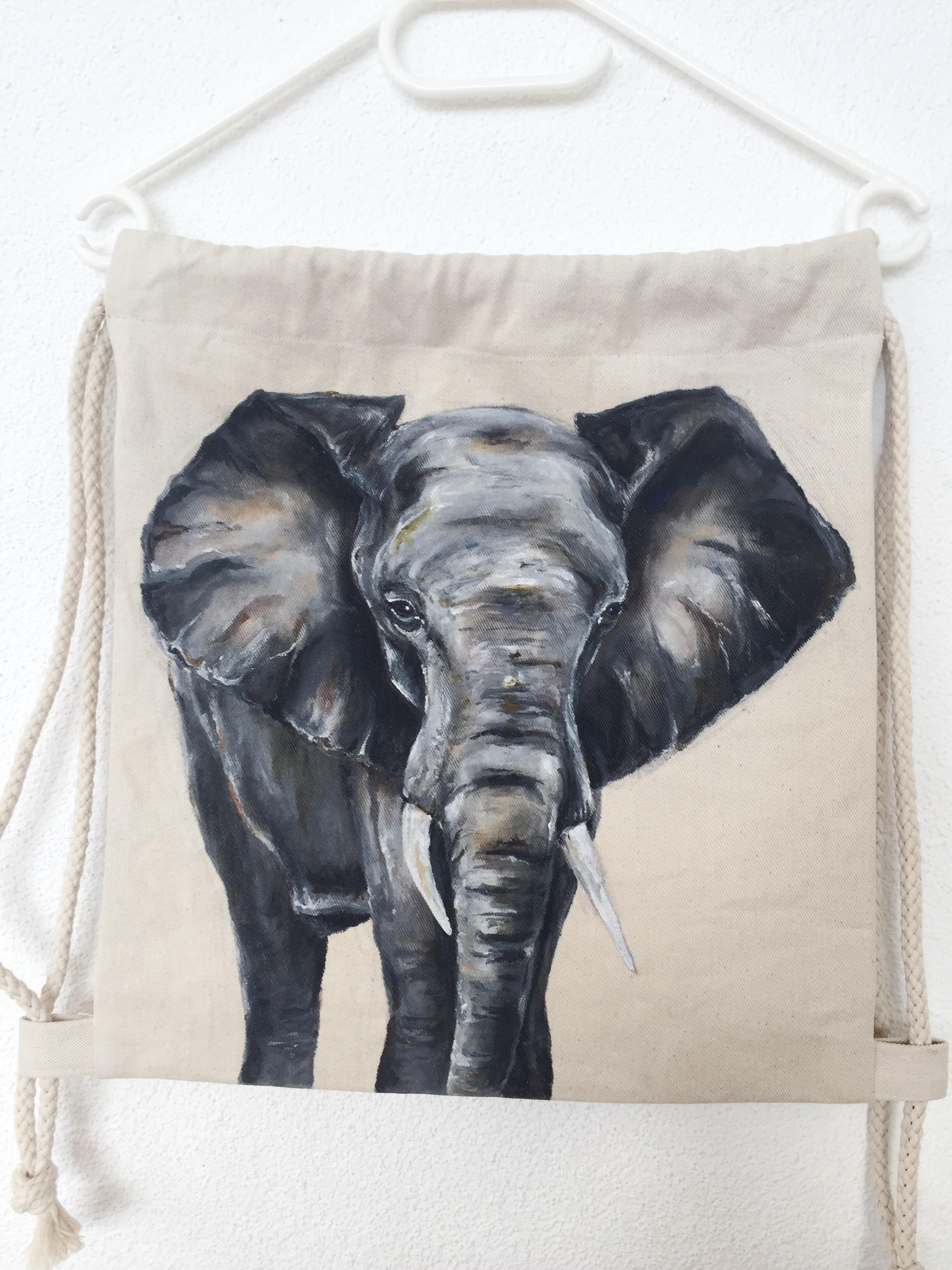 Elefant Turnbeutel