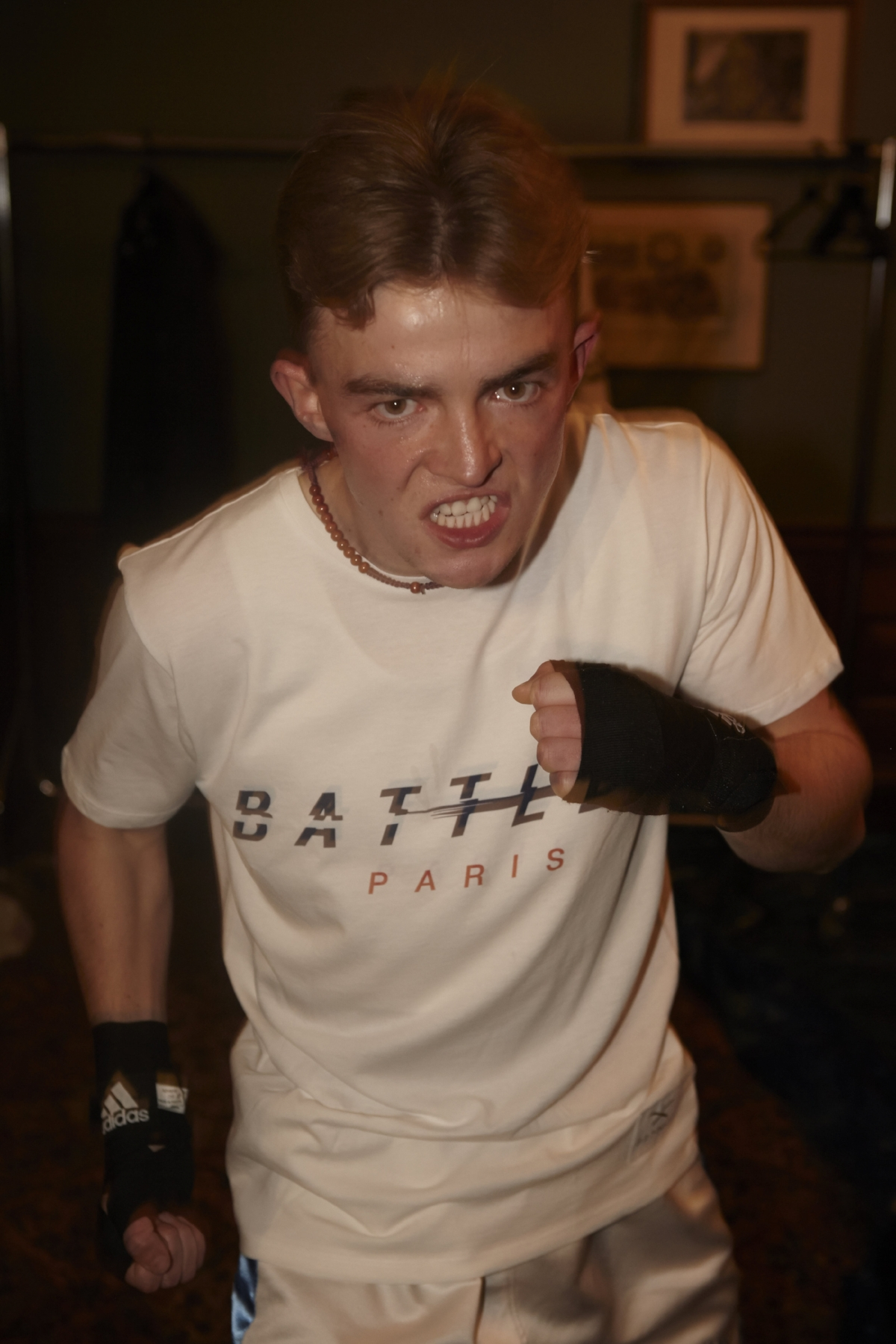Highly rated Frankie Storey from Finchley ABC, fired up ready to fight