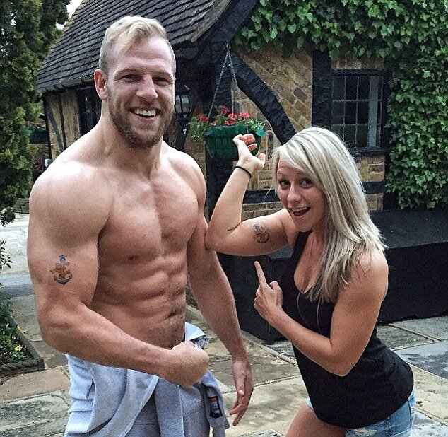 With wife Chloe Madeley