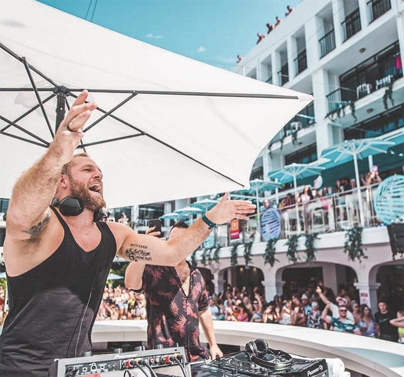 DJing in Ibiza