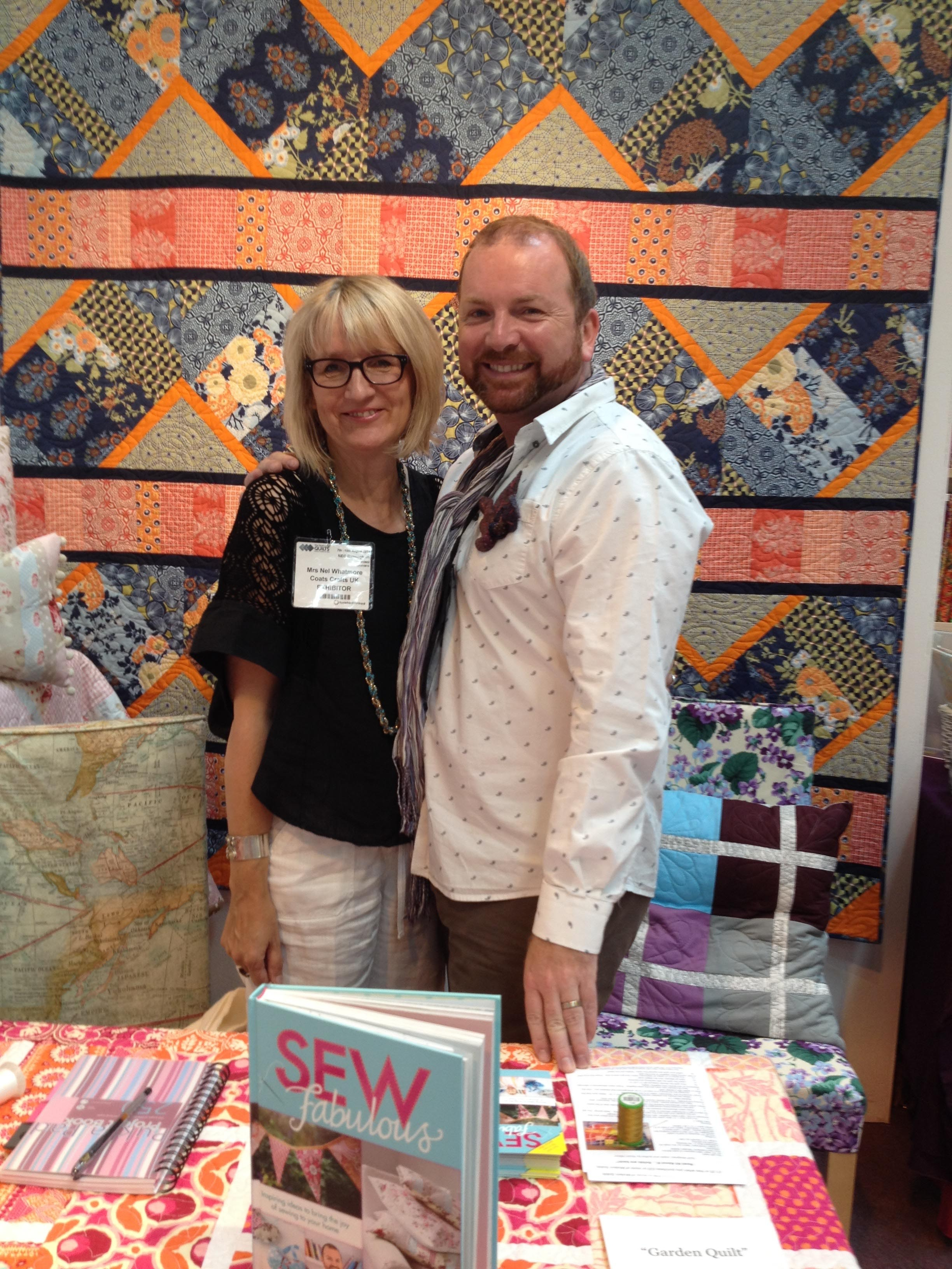 Having fun at the International Festival of Quilts at the NEC, Birmingham
