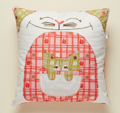 Eden Cat and Kitty Cushion
