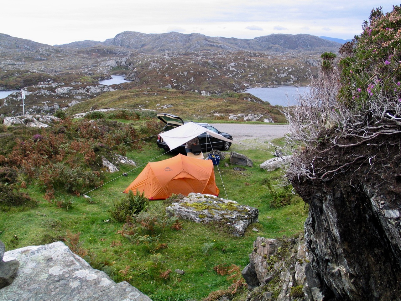 Camping out of the wind near Stoer