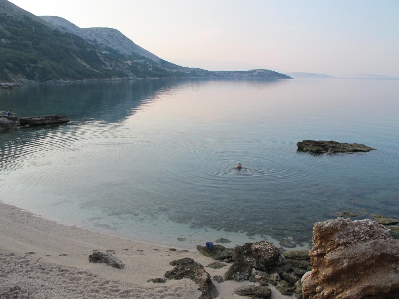 My morning swim in the Adriatic