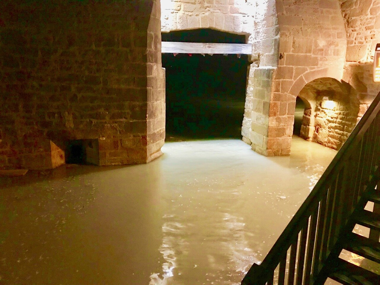 Flooded entrance