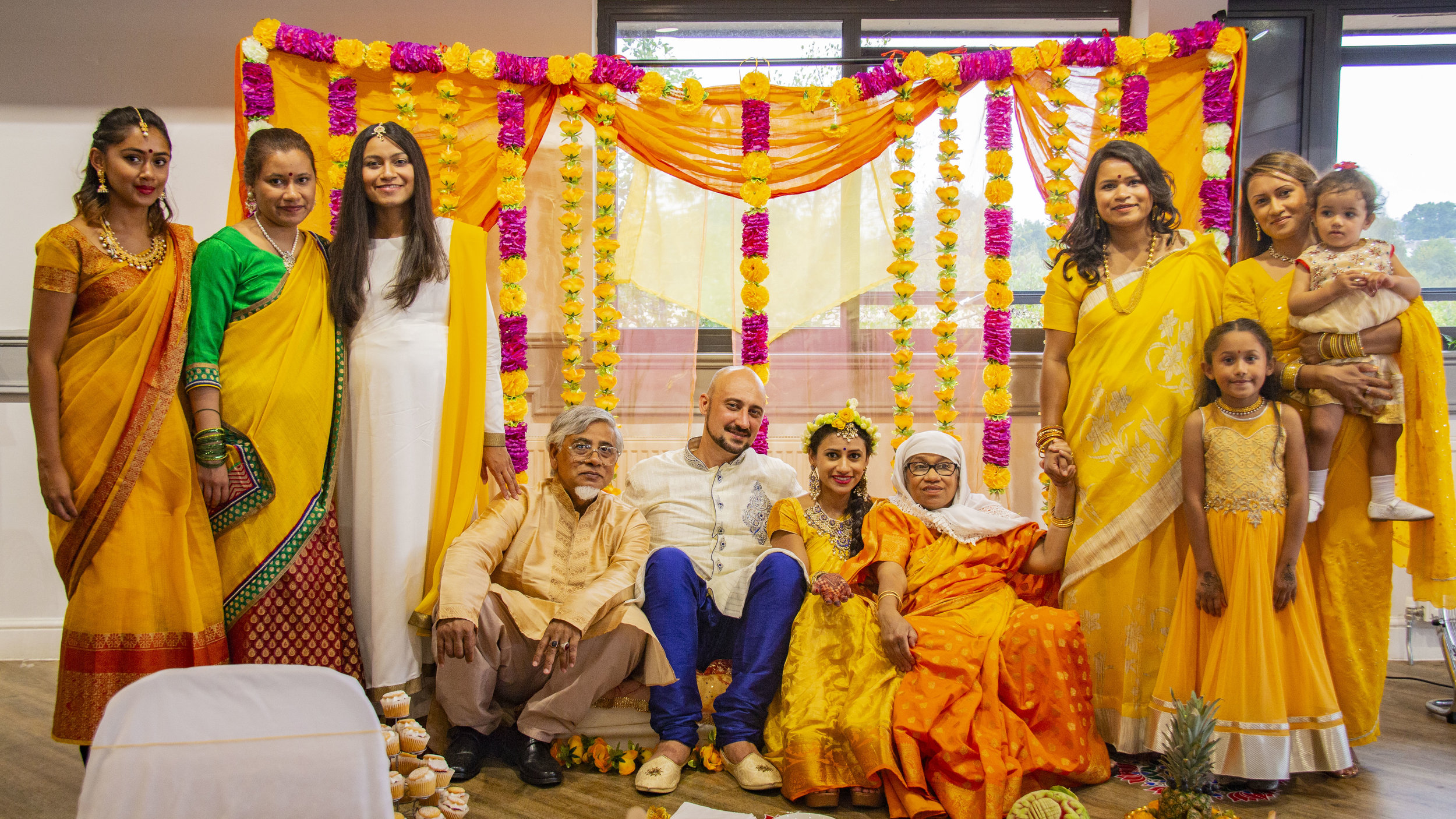 Indian Fusion Wedding Turmeric Ceremony