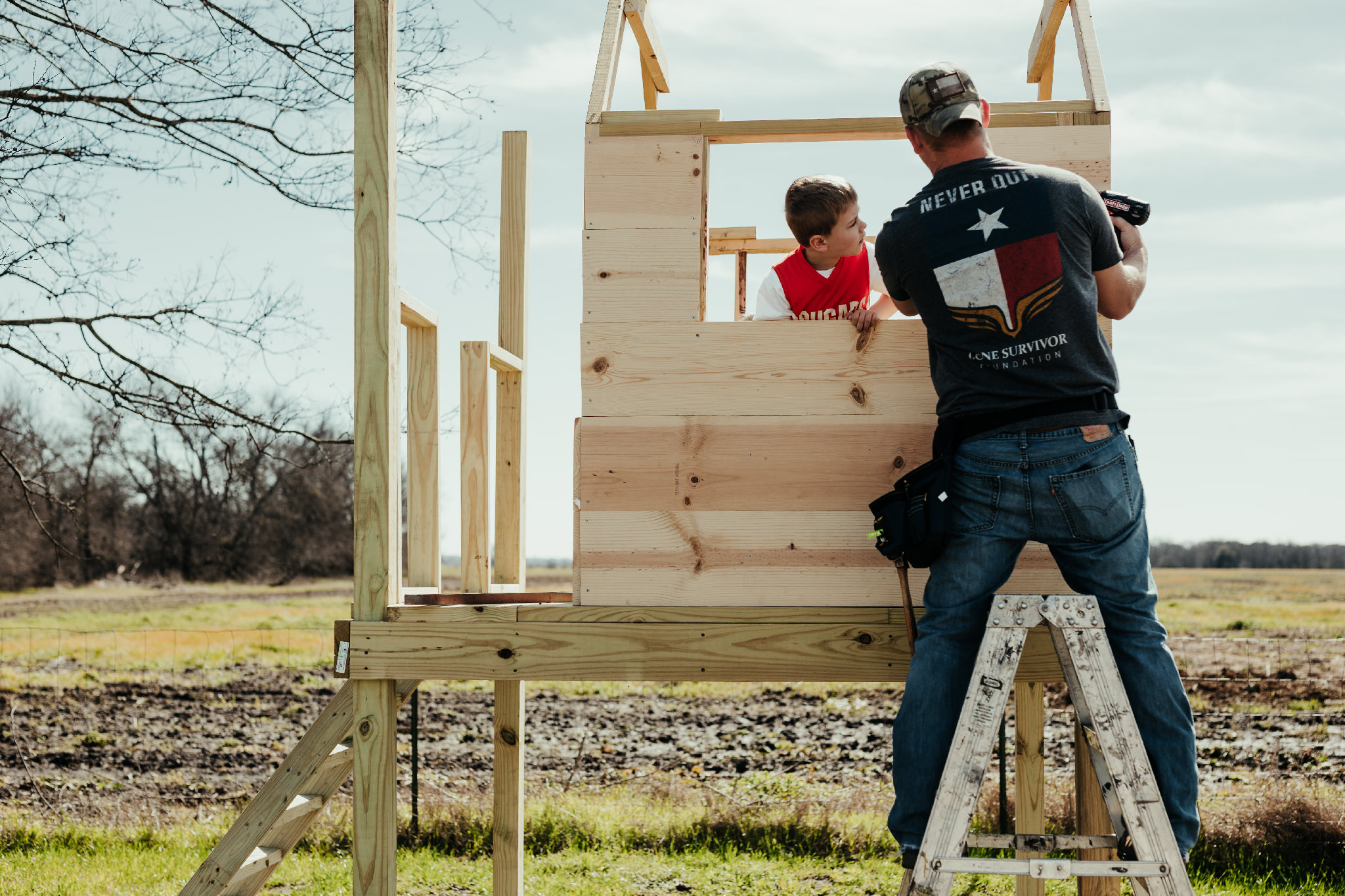 Building the tree house | Rural Life Photography | Family Photojournalism