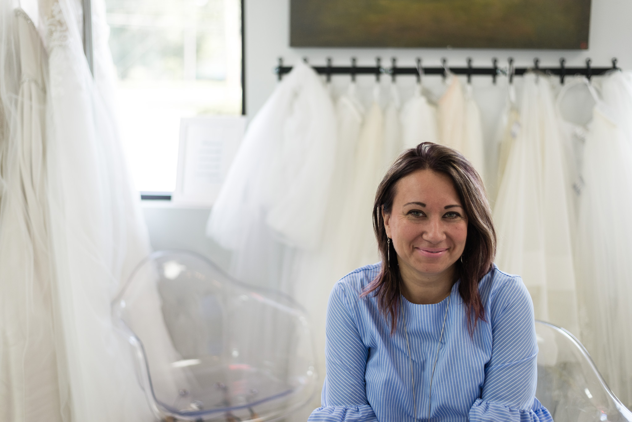 We love helping brides find unique & one-of-a-kind dresses. - We work hard to ensure our brides feel gorgeous, comfortable, and show-stopping in our gowns. These gowns turn heads and we love to help brides feel their absolute best!