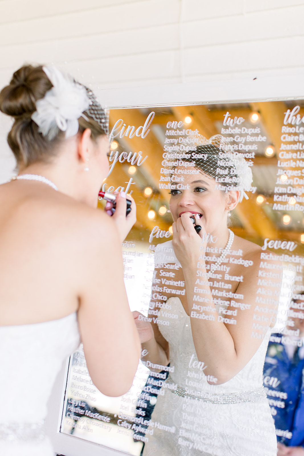 Customizable ceremony and reception mirrors  Photo by  Caley Joy Photography