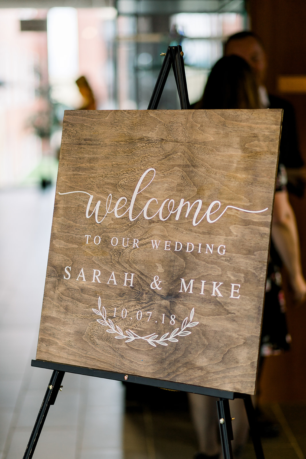 Personalized wooden signs  Photo by  Caley Joy Photography