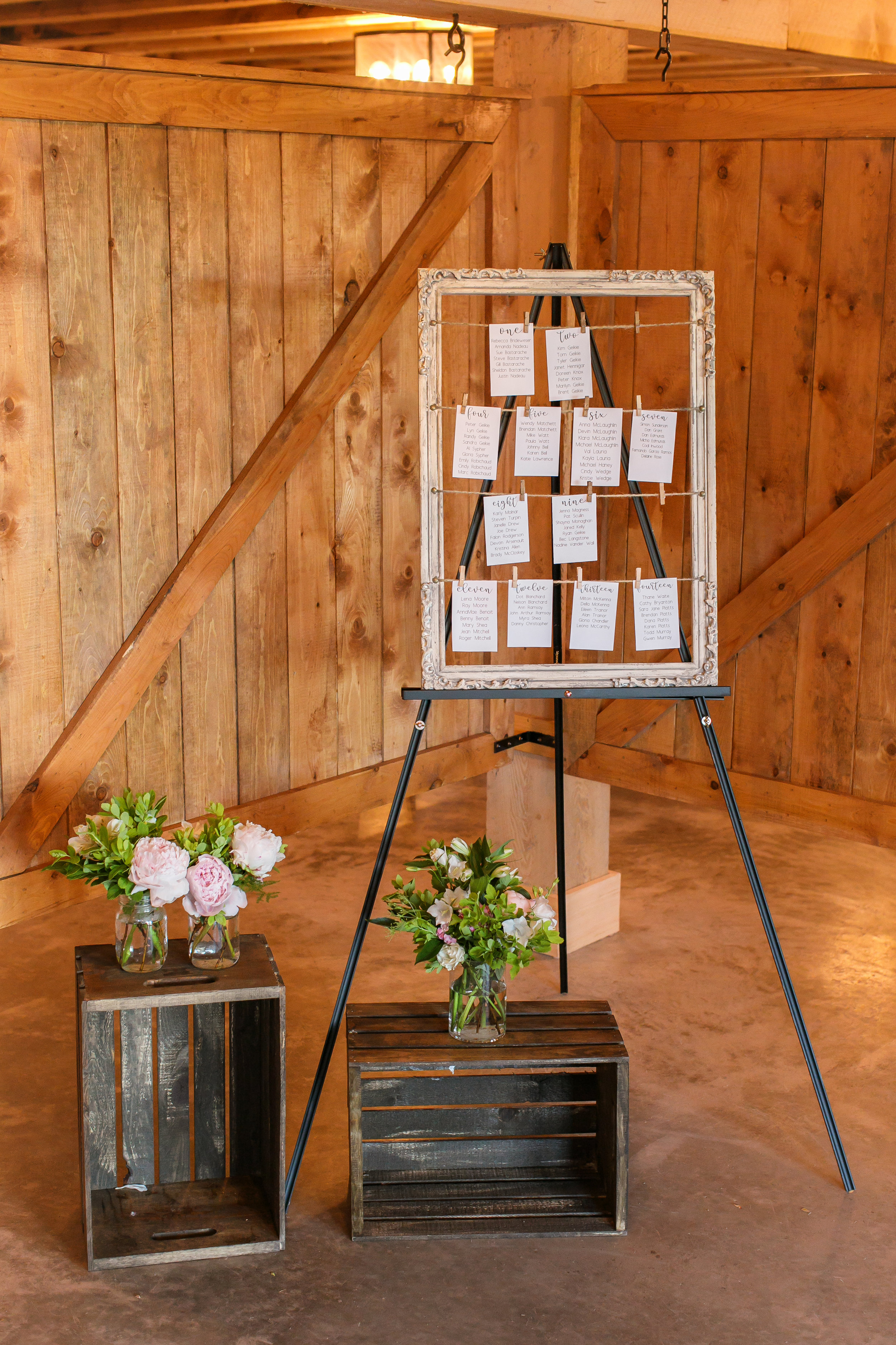 Vintage style frame for seating chart  Photo by  Brady McCloskey Photography