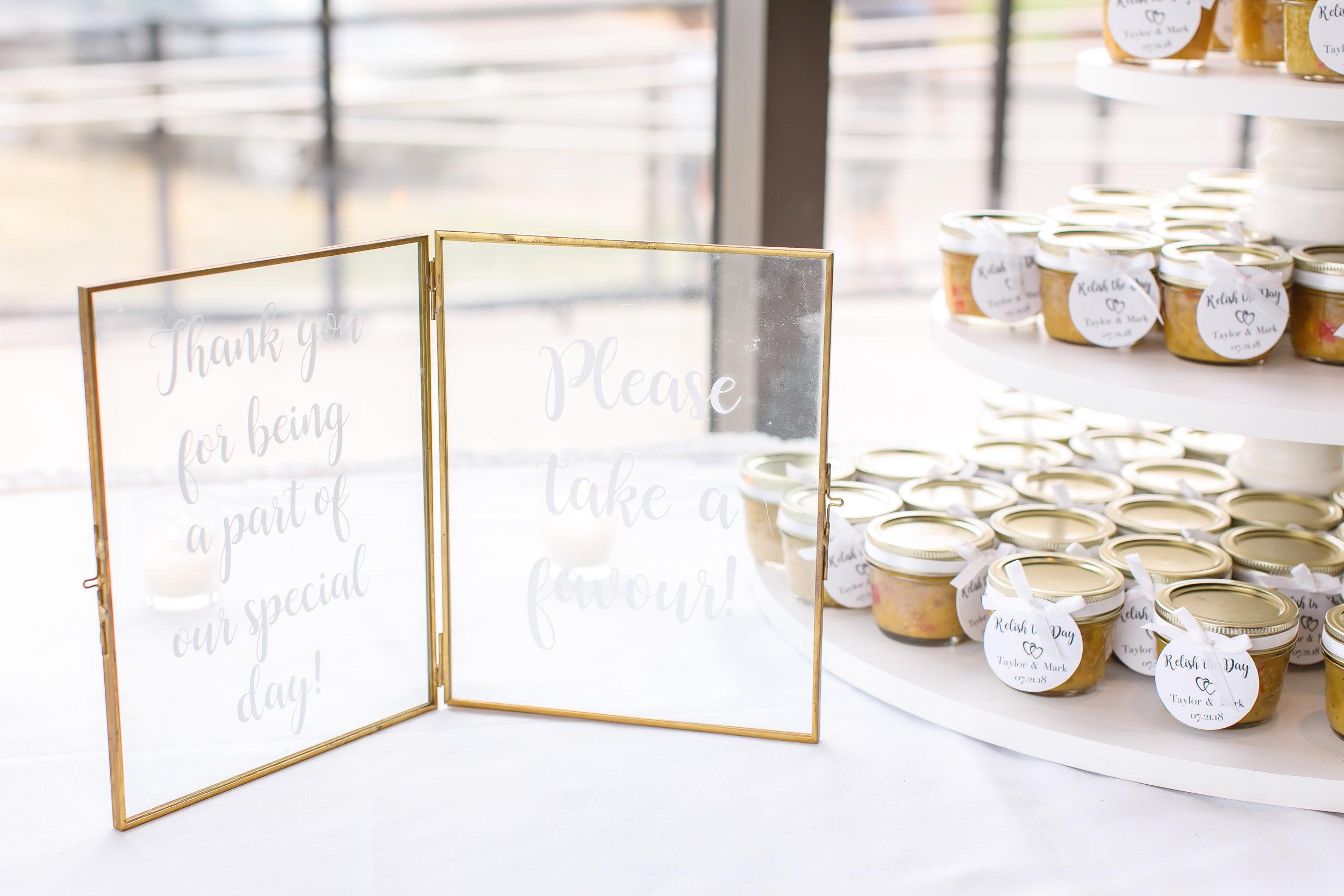 Gold & glass customizable frames  Photo by  Brady McCloskey Photography