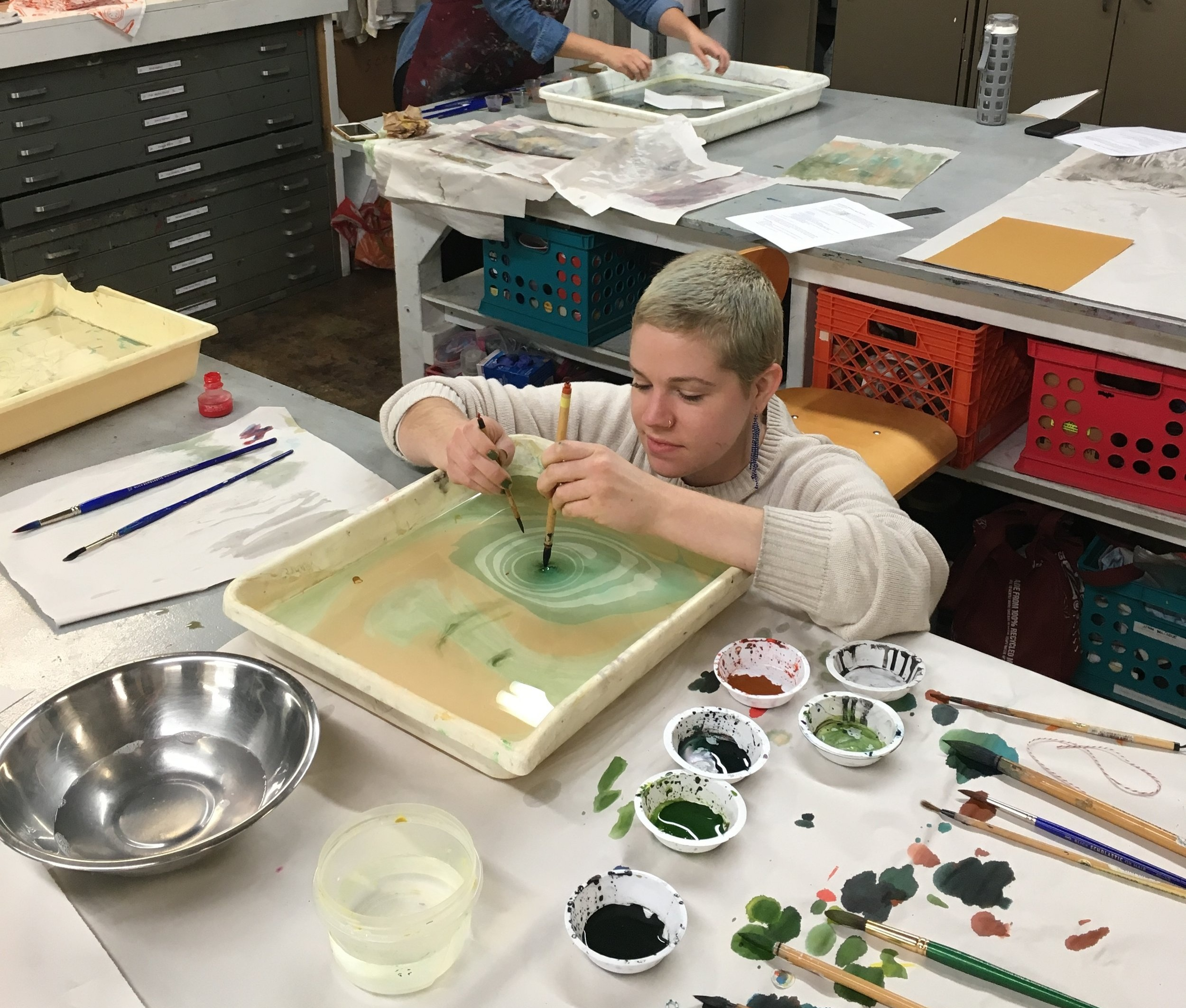 Education - Second State Press offers a variety of programs for printmaking education. From lithography to screen printing, we host learning opportunities catered for both adults and children!