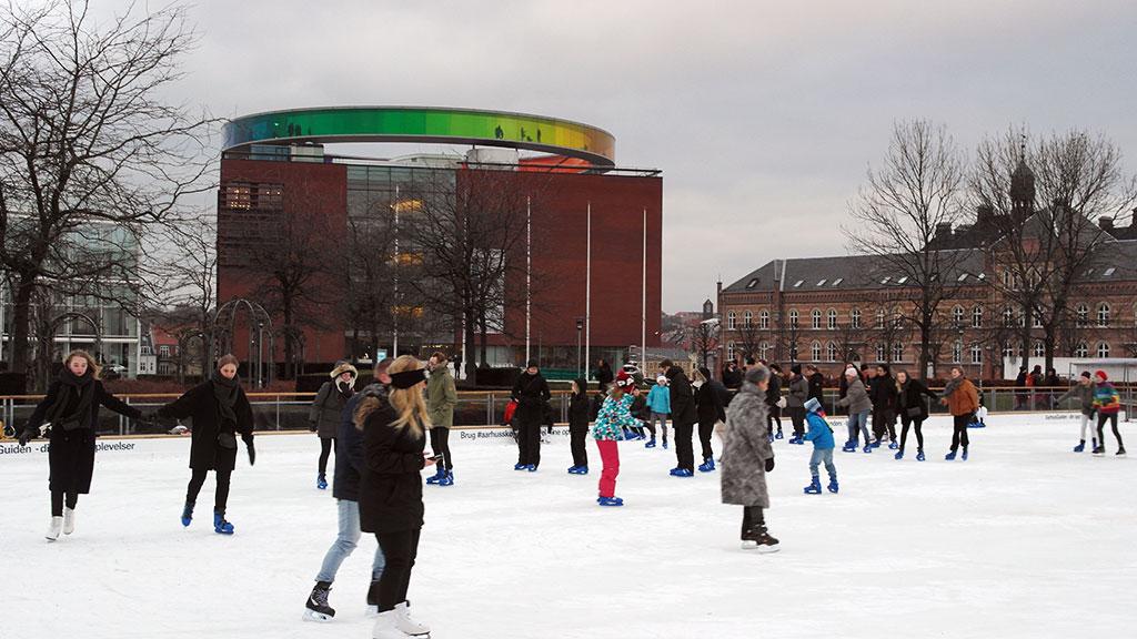 The ice rink in Rådhusparken (credit  Visit Aarhus )