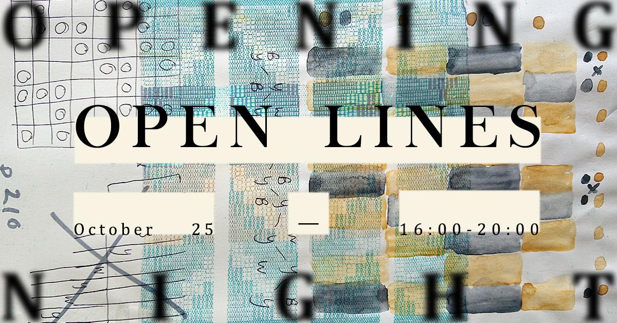 OPEN LINES — art textile exhibition — AARHUSMAKERS, Aarhus, END OF THE LINE