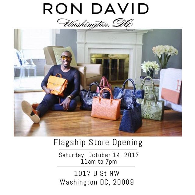 Opening soon! Join us Saturday October 14th as we open our flagship store, on the U-Street corridor. Welcome to the world of RON DAVID!