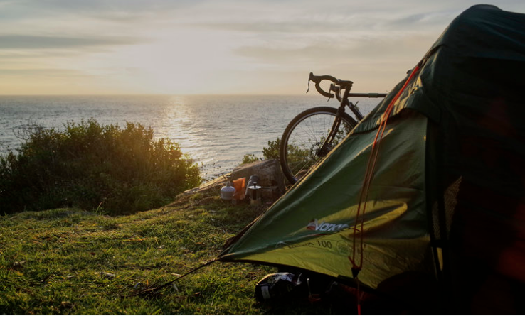 Bike Camping at Millers Point - A campsite near Simon's Town.